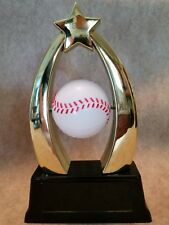 Baseball Trophy with spinning Ball -  Free Personalized Plaque - Trophies