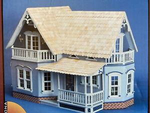 Magnolia Dollhouse Kit All Wood Pre-cut. NIB. Unassembled Made in USA 33x22x17