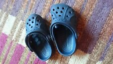 navy blue toddler crocs size 4 or 5 unisex cayman style with heel strap