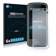 6x Displayschutzfolie für Nokia 5230 Schutzfolie Klar Folie Displayfolie