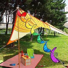 Rainbow Spiral Wind Spinner Outdoor Tent Tarp Garden Home Decorations FW