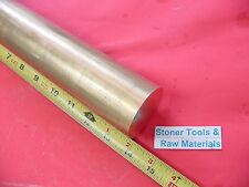 "2 Pieces 2"" C360 BRASS ROUND ROD 14"" long Solid 2.0 Diameter H02 Lathe Bar Stock"