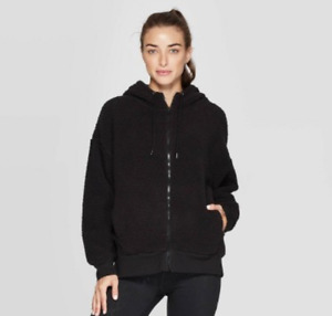 Women's Sherpa Fleece Full Zip Track Jacket-C9 Champion-Black-Various Sizes-S483