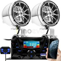 Bluetooth Speakers Audio Amplifier Amp System Stereo Radio MP3 SD ATV 4 Wheeler