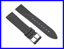 20mm Generic Black Soft Rubber Watch Band Strap for Swiss Army Recon & Orig SAI