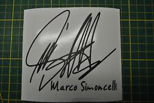 STICKER SIGNATURE MARCO SIMONCELLI CASQUE RESERVOIR POLY CARRENAGE MOTO 96X110MM
