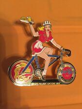Hard Rock Cafe 2002 Amsterdam European AIDS Vaccine Ride Blonde Girl on Bike Pin