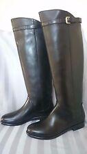 $1100 NIB Giorgio Armani Leather Knee-High Black Riding Boots 7.5