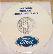 1966 FORD BRONCO WIRING DIAGRAM MANUAL ON CD