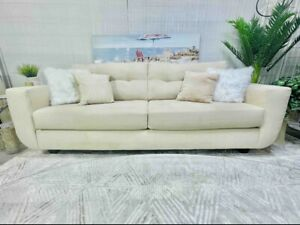 Luxury Luxury Modern Beige Suede Fabric Living Room Sofa Set - Local Pickup Only