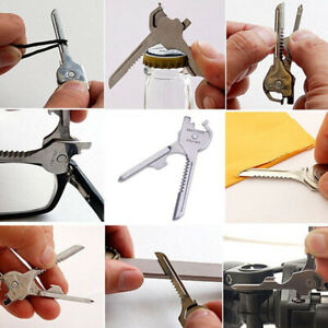 Outdoor Survival Camping Multi-Tool Keychain Screwdriver Bottle Opener Tool Kit