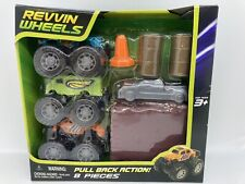 NEW Revvin Wheels 8 Piece Pull Back Action Cars Playset Ages 3+