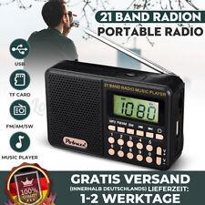 Tragbarer Mini Radio Taschenradio Reiseradio Mobil FM/AM Digitalradio MP3 Musik