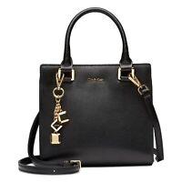 Calvin Klein Women's Black Leather Logan Crossbody Bag