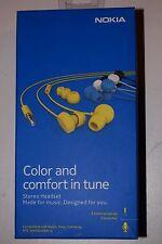 Genuine Yellow Nokia WH-208 Stereo Headset Earphones for Nokia Lumia - Retail