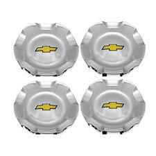 4 2007-2013 Chevy Chevrolet Silverado Tahoe Avalanche Suburban Wheel Caps Silver
