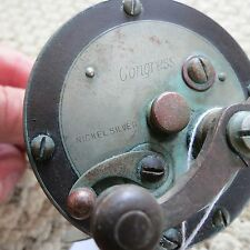 Montague Nickel Silver Congress vintage fishing reel 200 yards (lot#8826)