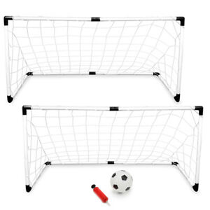 2-Pack Youth Soccer Kit Game Goals with Soccer Ball and Pump  BRAND NEW