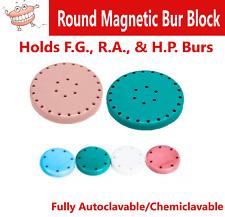 Magnetic Round Dental Lab Bur Block Holder Station For Fg Amp Ra Autoclav 7 Hole