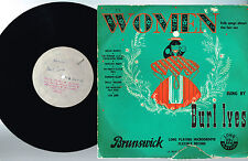 "BURL IVES WOMEN Folk Songs 2x10"" LP WHITE LABEL Single Sided BRUNSWICK UK LA8641"