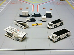 Gemini200 G2APS451 Airport Support Vehicles 5 Piece Set 1:200 Scale For