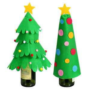 Christmas Tree Wine Bottle Cover Case Table Decor Ornaments Kids Xmas Toy