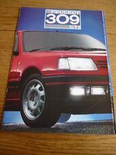 Peugeot 309 GTI COCHE FOLLETO de ventas 1988