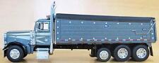 1/64 DCP SLATE GRAY W/ SILVER 379 PETERBILT W/ GRAY MAC DUMP BOX