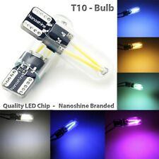 Bright 360 light Nanoshine LED T10 Canbus W5W SMD White Bulbs Pair