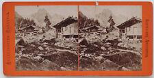 Echtes Original 1870er Jahre Stereofoto SCHWEIZ Wellhorn