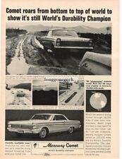 1965 Mercury Comet World's Duarbility Champion Vtg Print Ad #2