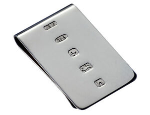Wide Solid Sterling Silver Money Clip