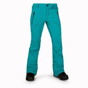 WOMENS VOLCOM PVN GORE-TEX STRETCH SNOWBOARD PANT (MSRP $320) L Teal