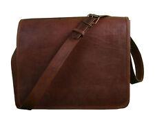 Men's Vintage Leather Handmade Briefcase Messenger Shoulder Bag Handbag Business