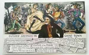 """Vintage CA Postcard, Uncirculated """"Famous Sayings In Ghost Town"""""""