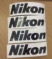 4 x Nikon Logo Decals / Stickers + Free Postage