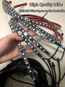 jhb-lighting 2PCS 4FT + 2PCS 6.5FT Single color White LED Underglow Strips Kit