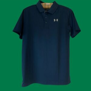 Under Armour Polo Shirt Sports T-Shirt Navy Blue Mens