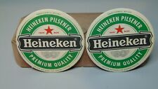 TWO HEINEKEN PILSENER BEER DRINK COASTER