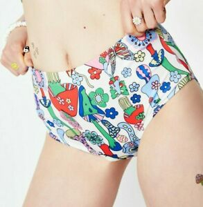 Dolls Kill Brand New With Tags CURRENT MOOD SURREAL WORLD BOOTY SHORTS