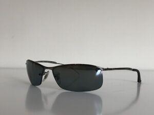 Ray Ban RB 3183 004/82 Semi-Rimless Gunmetal Gray Polarized Sunglasses 63-15 3P