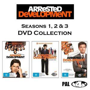 Arrested Development : Season 1-3 (DVD, 8-Discs) PAL Region 4 (Brand New/Sealed)