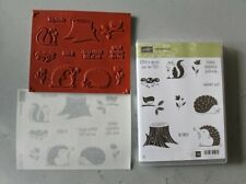 Stampin Up! Hedgehugs Stamp Set NEW Retired Animals Tree Sayings