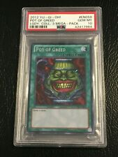 Yu-Gi-Oh Legendary Collection 3 Mega Yugis World POT OF GREED Secret Rare PSA 10