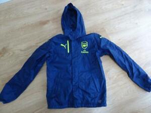 ARSENAL FOOTBALL PUMA mens navy blue waterproof jacket coat MEDIUM AUTHENTIC