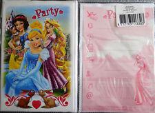 5 Einladungskarten inkl.Umschläge--Disney Princess-Party--Kinder Geburtstag (4)
