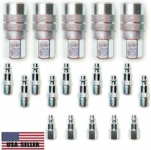 20 pcs Heavy Duty Quick Coupler Set Air Hose Connector Fittings 1/4 NPT Tools