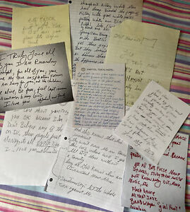 RARE Michael Jackson Collection Of 9 Letters