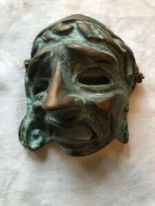 vintage venetian mask made in metal (very heavy) circa 9 x 10.5 cm