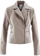 Jacken aus Kunstleder mit Reißverschluss für die Freizeit
